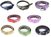 DEWY Women Casual Multicolor Artificial Leather Belt Red-Black-Royalblue-White-Yellow-Pink-Green-Purple