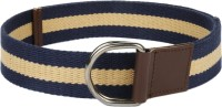 ETC Men Casual Blue, Beige Canvas Belt NAVY/BEIGE