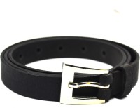 CRAPGOOS Women, Girls Formal, Casual Black Genuine Leather Belt Black