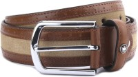 Louis Philippe Men Beige, Brown Genuine Leather Belt Tan And Beige