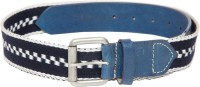 Pacific Gold Men Casual Blue Genuine Leather Belt Blue, Navy Blue