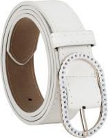 Freshka Women Casual White Artificial Leather Belt Stylish White
