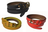 Rags Style Women Casual Multicolor Artificial Leather Belt Red, Black And Yellow - BELE8W9E6BGBVGSV