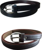 Verceys Girls, Women Casual Black, Brown Artificial Leather Belt Black, Brown