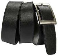 Aleron Men Black Texas Leatherite Belt Black