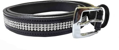 Sterling Germany Women, Girls Casual, Evening, Party Black Genuine Leather Belt (Black-01)