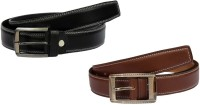 Winsome Deal Men Formal, Casual Black, Brown Artificial Leather Belt Black, Brown - BELE866WMZ4Z5BHC