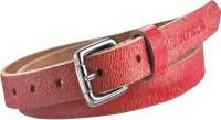 Fastrack Women Casual Red Genuine Leather Belt: Belt