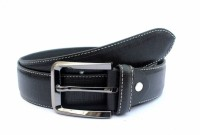 Tops Men Formal Black Genuine Leather Belt Black - BELEY3BG9XDGNJZJ