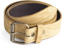 Blimey Men Semi-formal Beige Artificial Leather Belt Beige-06