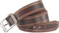 Hide & Sleek Men Casual Brown Genuine Leather Belt Brown-4