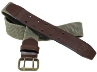 Honeybadger Men, Women, Boys, Girls Casual Multicolor Genuine Leather, Canvas Belt Two Tone Green - BELEGGB4VEBSBJQG