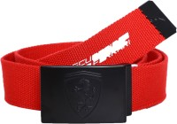Puma Men Casual Red Fabric Belt Rosso Corsa-white-black