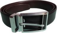Ex Corio Men Formal Brown Genuine Leather Reversible Belt Black, Brown - BELE36EFBFPTFYBK