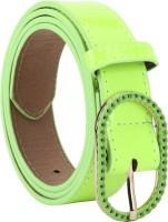 Freshka Women Casual Green Artificial Leather Belt Stylish Green