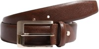 Ekvi Men Formal Brown Genuine Leather Belt Brown