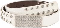 Tiekart Women Casual White Synthetic Belt White