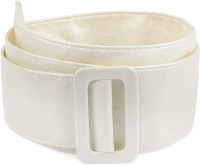 Ajara Girls Party White Synthetic Belt White-039