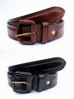 Tops Men, Women Casual Black, Brown Genuine Leather Belt (Black, Brown)