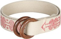 Anekaant Women Casual White Fabric Belt White-01