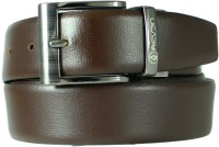 Reven Men Formal Black Genuine Leather Reversible Belt Black And Brown - BELEC88YSA2ARYHX