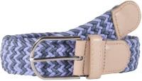 Snoby Women Casual Multicolor Canvas Belt Light & Dark Blue