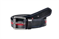 Sash Men Casual Black, Grey, Red Genuine Leather, Canvas Belt Multicolor