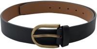 SkyWays Men Casual, Semi-formal Black Artificial Leather Belt Black-02