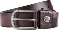 Swiss Design Men Brown Genuine Leather Belt Brown