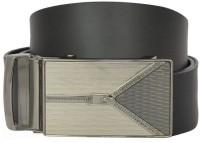 Bueva Men Casual, Formal Black Synthetic Belt ZIP DESIGN - BLACK