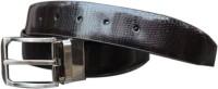 Winsome Deal Men Formal Black Genuine Leather Reversible Belt Black