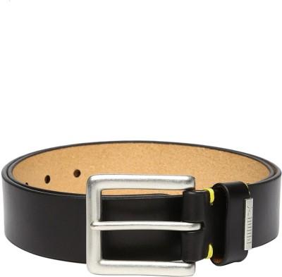 Puma Men Black Genuine Leather Belt Black