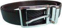 Ex Corio Men Formal Black Genuine Leather Reversible Belt (Black, Brown)