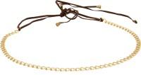 Jainsons Girls, Women Gold Fabric Belt Brown