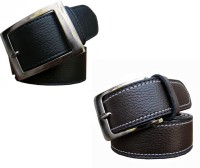 Winsome Deal Men Formal Black, Brown Artificial Leather Belt Black, Brown - BELE5XBNWHX7WDME