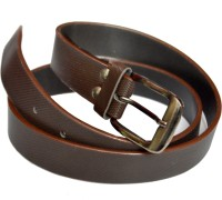 VICTORIA SECRET INDIA Men Brown Artificial Leather Belt BROWN