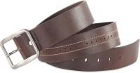 Hide & Sleek Men Casual Brown Genuine Leather Belt Brown-465