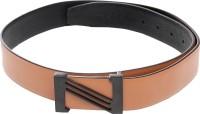 Swiss Design Men Casual Brown, Black Genuine Leather Reversible Belt Brown And Black