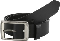 Global Leather Boys, Men, Girls, Women Formal, Casual, Party, Evening Black Genuine Leather Belt Black - BELEAJ4SZHHZ3GMJ