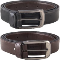 Kvalito Men Formal Black Genuine Leather Belt (Black, Brown)