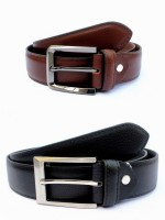 Tops Men, Women Formal Black, Brown Genuine Leather Belt (Black, Brown)