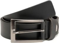 Espana Men Casual Black Genuine Leather Belt Black-02 - BELE55DEPHPECFHX