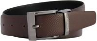 Reven Men Formal Black Genuine Leather Reversible Belt Black And Brown