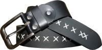 Czars Exports Men Casual Black Genuine Leather Belt Black