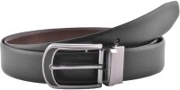 Buckleup Men Formal Black Genuine Leather Reversible Belt (Black)