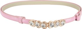 SRI Girls Party Pink Artificial Leather Belt