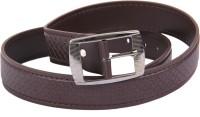 Dattitude Men Formal, Semi-formal Brown Artificial Leather Belt Brown