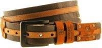 Swiss Military Boys, Men Brown Genuine Leather Belt BROWN-1
