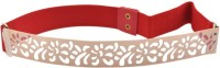 Bootwale Women Party, Formal, Evening, Casual Red Metal Belt Red