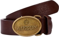 Aussum Men Casual, Party, Formal Brown Artificial Leather Belt Dark Brown, Brown
